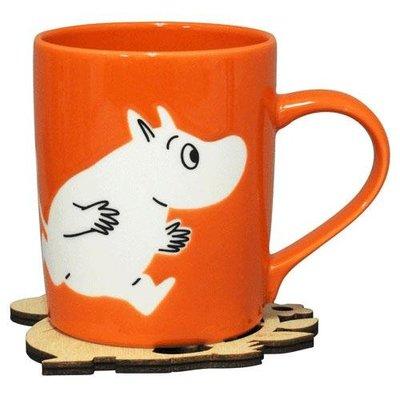 尼德斯Nydus 日本正版 嚕嚕米 Moomin 馬克杯組 附造型杯墊 直徑7cm 高9cm 日本製馬克杯