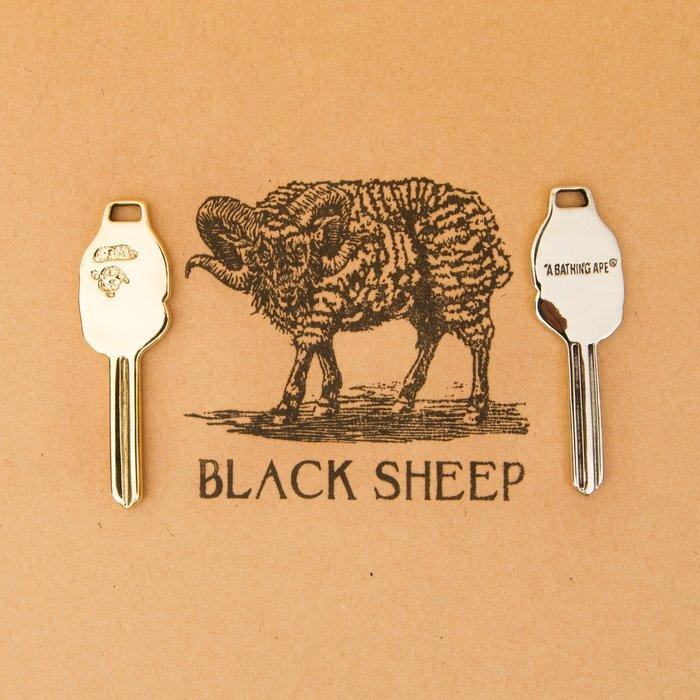 黑羊選物 猿人牌復刻鑰匙圈 黃銅 白銅鑰匙圈 潮流小物 復古 送禮小物 手感扎實 兩色可選