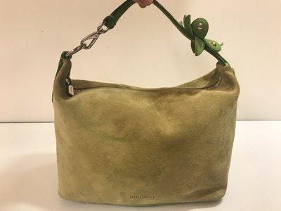 二手正品 MIU MIU 蘋果綠麂皮小包/手提包