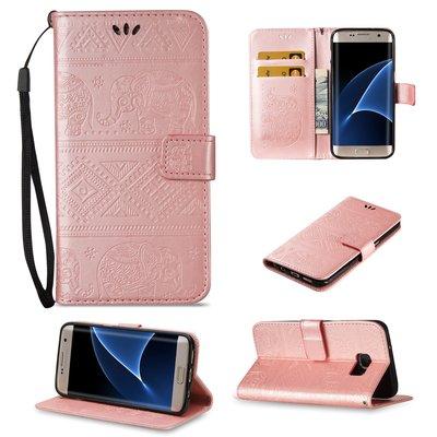 Samsung Galaxy S7 Edge/A7(2017) A720大象壓紋皮革錢包手機套 內軟殼 可支架