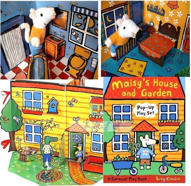 可愛小鼠波波系列 美麗花園立體書 maisy house and garden+波波玩偶**限量