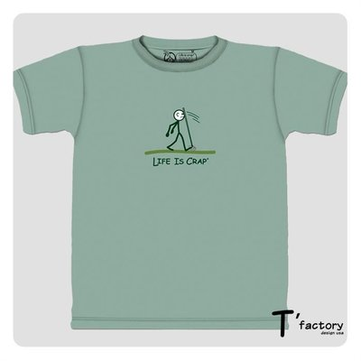 【線上體育】The Mountain 短袖T恤 S號 人生處處是陷阱(Life is Crap) TM-102348.jpg