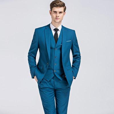 潮流正韓男西服三件套Men s business suits men wedding Dress Suit Set