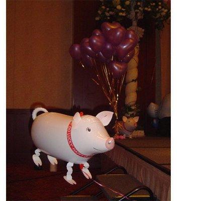 【氣球批發廣場】日本散步氣球 寵物小豬氣球 鋁箔氣球 造型氣球 粉紅豬寵物氣球