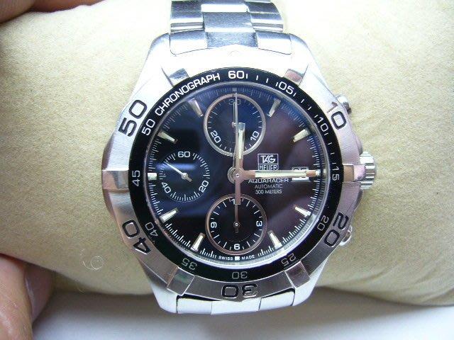 [吉宏精品交流中心]TAG HEUER 豪雅 AQUARACER 43mm 300米 黑面 計時碼錶