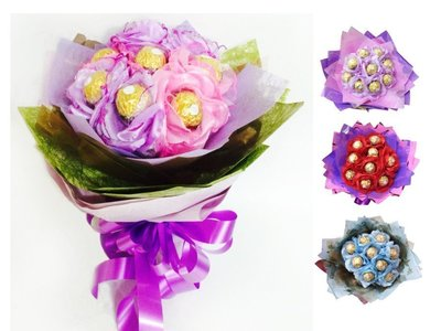 娃娃屋樂園~9朵花朵金莎花束(小)/長長久久的祝福 每束550元/情人節花束/生日禮物/畢業花束/教師節花束
