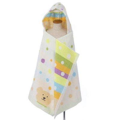 尼德斯Nydus 日本正版 Rainbow Bear 彩虹熊 100%綿 毛巾 連帽浴巾 浴袍 日本製 60×120cm