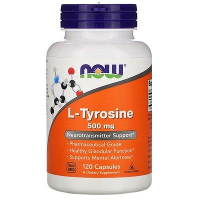 北美旗艦代購~Now Foods L-Tyrosine L型酪氨酸膠囊 500毫克 120粒