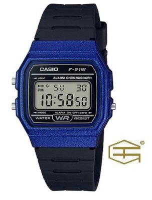 【天龜 】CASIO  經典復古  簡約電子錶  F-91WM-2A 台中市