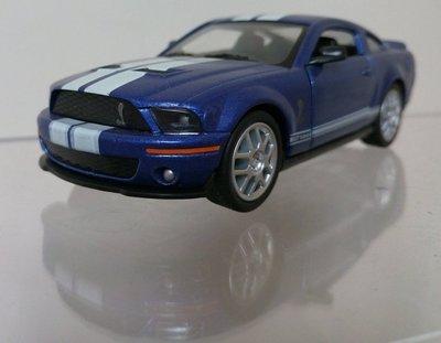 絕版品1:43福特野馬眼鏡蛇GT500KR2008年knight Rider新霹靂遊俠霹靂車伙計KITT藍色白藍條紋