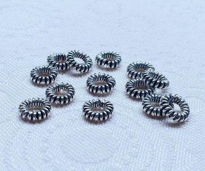 嗨,寶貝銀飾珠寶* 925純銀飾 DIY串珠配件☆甜甜圈隔珠 墊片 散珠 配件 串珠