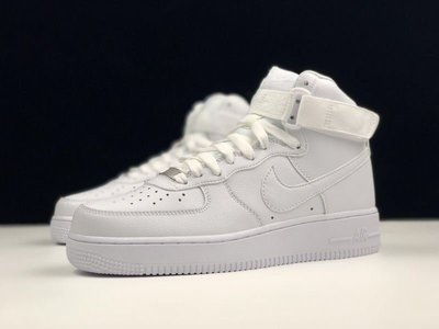 Nike Air Force 1 High 07 All White 白武士 荔枝紋 高筒 315121-115