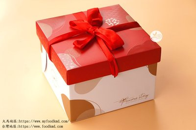 6吋緞帶盒_珍貴紅_2入_FKE07◎6吋.蛋糕.甜點.包裝盒.禮盒.附內襯.金盤.緞帶.紅色.喜氣.蛋糕盒
