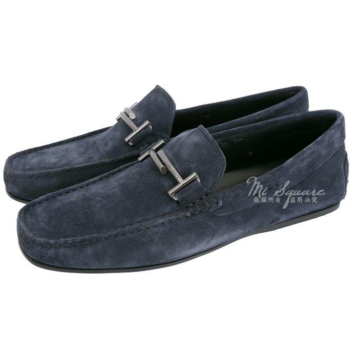 米蘭廣場 TOD'S City Gommino 雙T金屬飾麂皮豆豆休閒鞋(男鞋/深藍色) 1840078-34