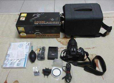 二手自售 Nikon D5100 數位單眼相機 含Nikon 18-55mm  (5月優惠活動)