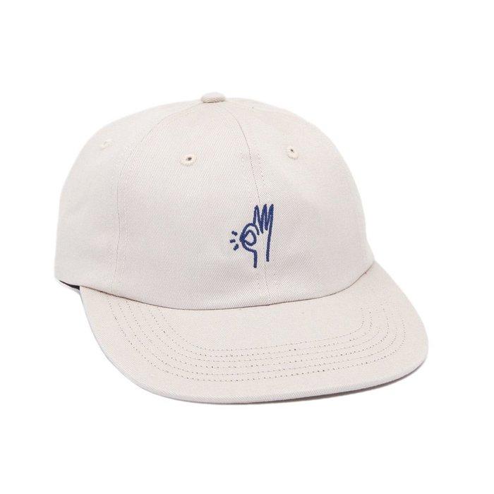 { POISON } ONLY NY OK POLO HAT 刺繡OK手勢 斜紋面料老帽棒球帽 美國製 沙白