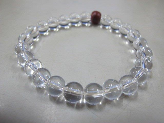 二手舖 NO.2591 天然水晶 白水晶手珠 手鍊 晶瑩清透 首飾飾品