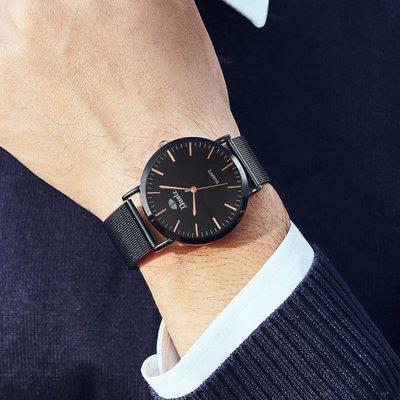男士手錶 潮流簡約學生手錶男士超薄防水全自動機械男表鋼帶石英表