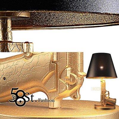 【58街-高雄館】設計師款式「Bedside Gun 金槍台燈」檯燈,複刻版。GL-106
