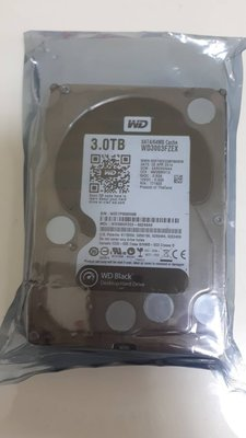 WD WD3003FZEX 黑標 3TB 7.2K SATA 3.5