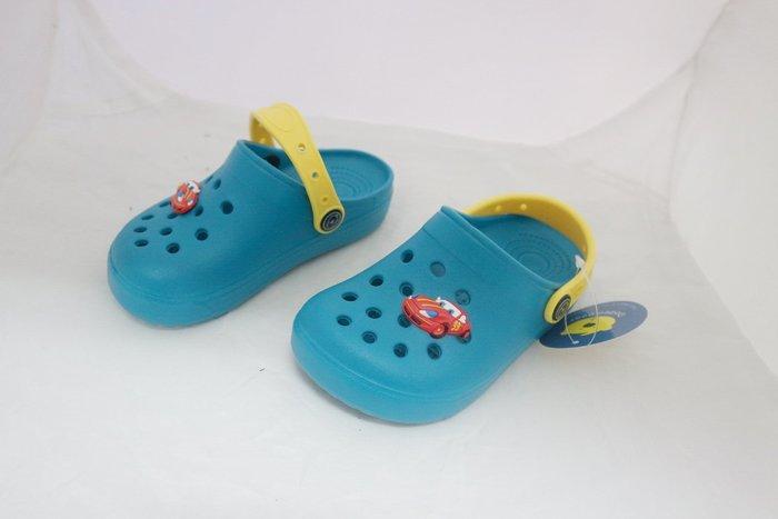 409~閃電麥坤 016C童花園鞋/布希鞋/園丁鞋/涼拖鞋 洞洞鞋 布希鞋 涼鞋 綠 尺寸 15 ~20號~