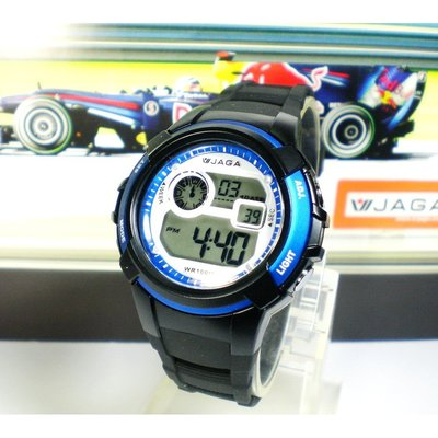 JAGA冷光電子錶 中性款 超人氣 上班族 小學生錶 運動錶 多顏色 附保固卡【↘420】M1104