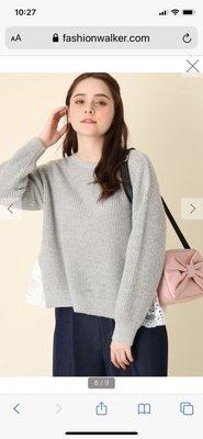 日本直送  專櫃貨 couture brooch 蕾絲薄上衣 春天好搭配