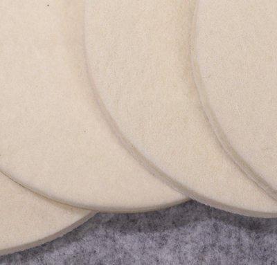 5Cgo【批發】7寸(180mm )植絨羊毛拋光輪 毛氈輪磨片高密度細羊毛輪 自粘羊毛墊 五片