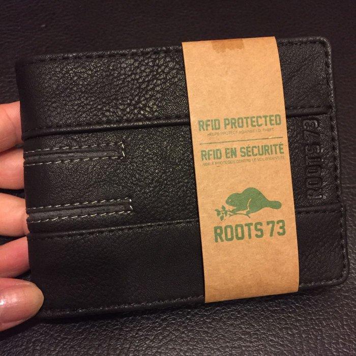 ROOTS73 歐美專櫃品牌 全新 黑色經典款男用皮夾