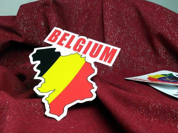 【國旗貼紙專賣店】比利時國旗地圖抗UV、防水旅行箱貼紙/多國款可收集和訂製