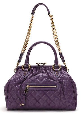 Marc Jacobs C3113000 'Quilting Stam' Leather Satchel 菱格紋羊皮祖母包 Purple 紫