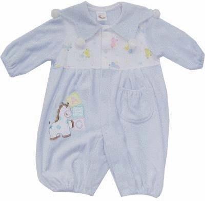 可愛寶貝---◎◎全新木馬繡花太陽領綿絨兩用嬰兒服---中厚◎◎☆☆人氣商品☆☆