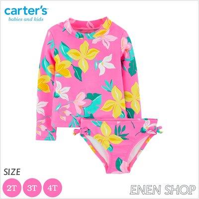 『Enen Shop』@Carters 繽紛花卉款兩件式泳衣/泳裝 #2H427510|2T/3T/4T 水上運動防曬衣