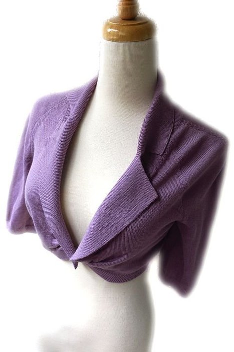 *Beauty*MOSCHINO紫色短版針織衫罩衫 I38號 WE17 加圖