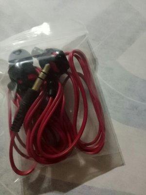 紅色線耳機(左桌袋)