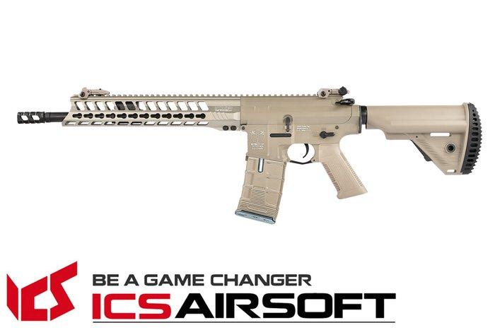 【翔準軍品AOG】ICS CXP-YAK Carbine (沙)S1托 EBB Keymod 全金屬 電動 生存遊戲 I