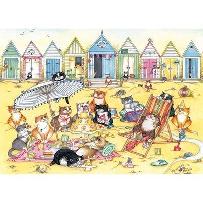(藝) 英國拼圖原裝進口拼圖  500片拼圖  大切塊拼圖  Linda Jane Smith  貓 的午後小憩  G3025