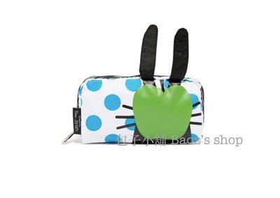 包子小舖 現貨 LeSportsac X Peter Jensen 設計師聯名熱賣款 綠蘋果藍點邦尼兔化妝包 / 手拿包