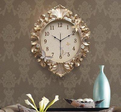 【蘑菇小隊】時鐘歐式掛鐘客廳時鐘藝術掛表家用靜音輕奢裝飾鐘表創意臥室餐廳大氣 DF-MG62630