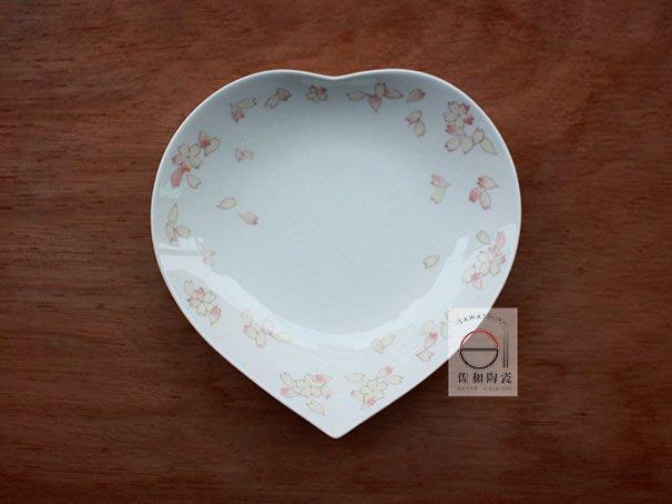 +佐和陶瓷餐具批發+【XL070712-4春櫻心型7吋皿-日本製】日本製 櫻花 愛心盤 造型皿 送禮 三尺寸 宴客