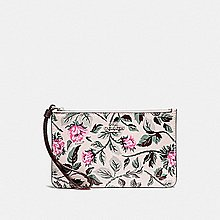COACH F25792 SMALL WRISTLET WITH SLEEPING ROSE PRINT  (清貨)