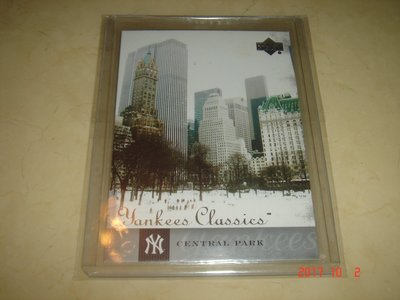 美國職棒 New York Central Park 中央公園 04 UD Yankees Classics 球員卡