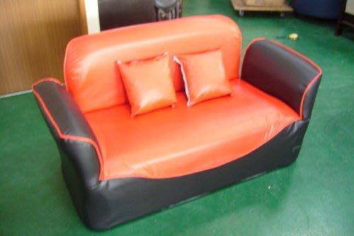 宏品二手家具賣場 A603全新夢妮黑紅雙人沙發床 客廳桌椅 套房 租屋傢俱拍賣床組床墊