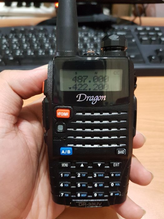 Dragon DR-33UV 雙頻對講機(附電池+天線+背夾)功能正常 $1800 扒09