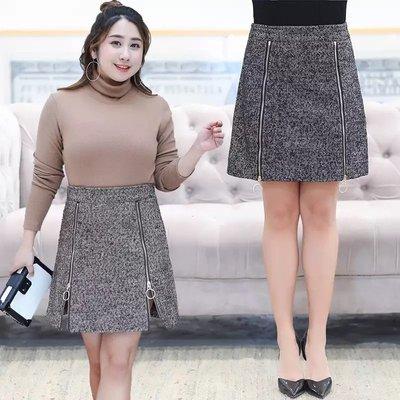 ✿plump girl 韓系✿大尺碼女裝人字斜紋料純色半身裙K304