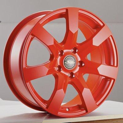 全新鋁圈 wheel S852 16吋鋁圈 4孔100 4孔114.3 5孔100 5孔108 5孔114.3 橘色