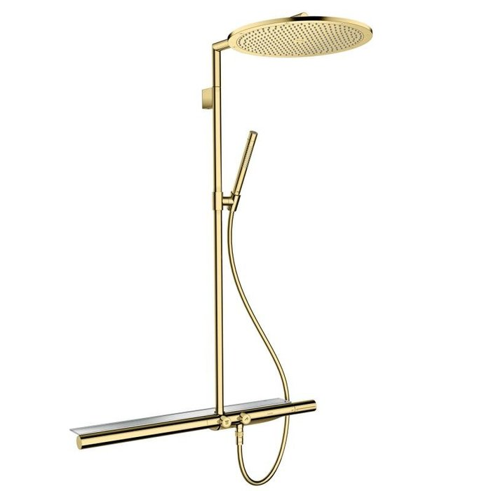 御舍精品衛浴* AXOR  淋浴恆溫器 ShowerSolutions Showerpipe 800 鍍金色