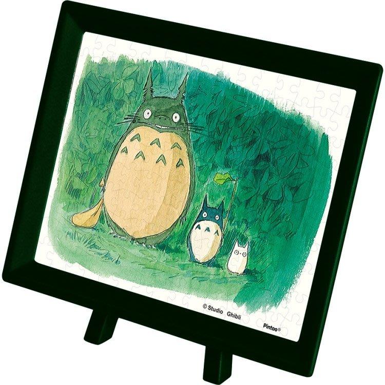 JP購✿17022700037 附架拼圖150pcs-龍貓3匹樹洞 宮崎駿 龍貓TOTORO 拼圖 桌遊 擺飾 益智玩具