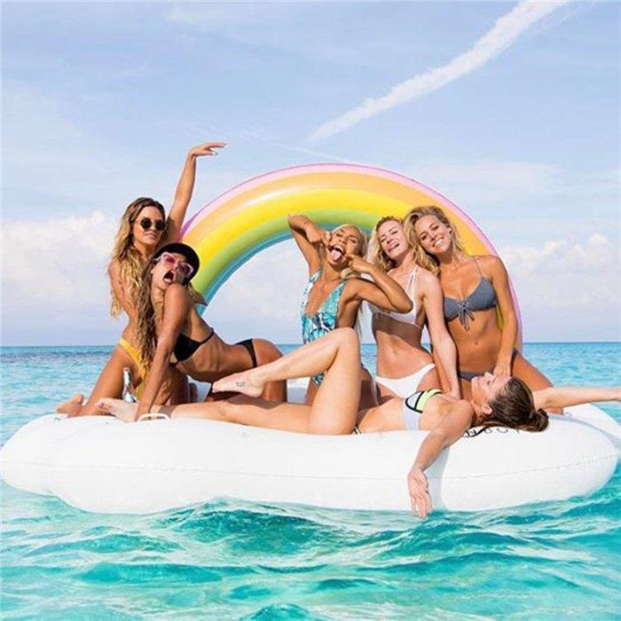 現貨不用等 泳圈 彩虹 浮排 浮板 充氣 游泳圈 獨角獸 火烈鳥 甜甜圈 貝殼 我們的創意生活館 【4P034】