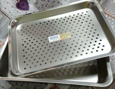 蝴蝶牌304不鏽鋼茶盤組 瀝水盤 深長方盤 萬用盤 不銹鋼盤 (小)